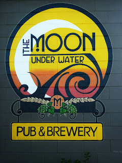 moon pub brewery canada wall mural hand painted with brushes traditional signage dobell designs