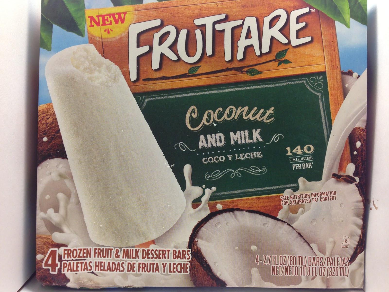 ... : Review: Fruttare Coconut and Milk Frozen Fruit & Milk Dessert Bars