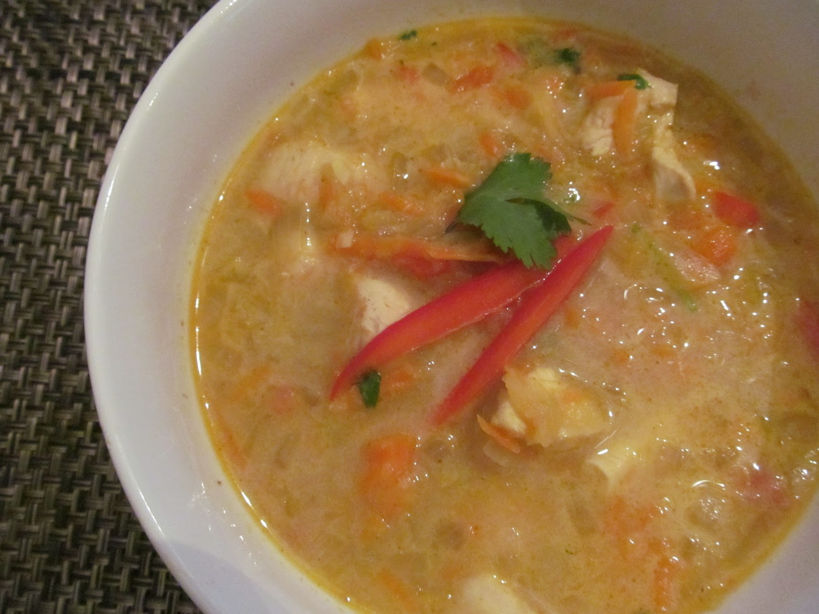 how to make indian chicken curry soup