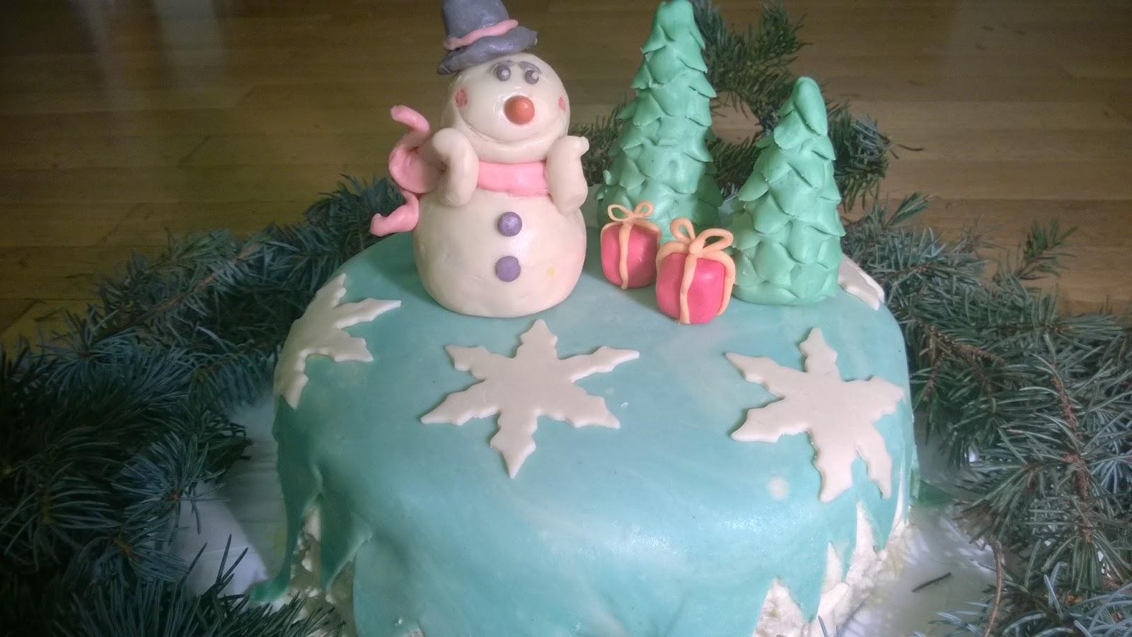 Gebrannte Mandel Torte Mit Schneemanndeko Glutenfrei Zimtduft