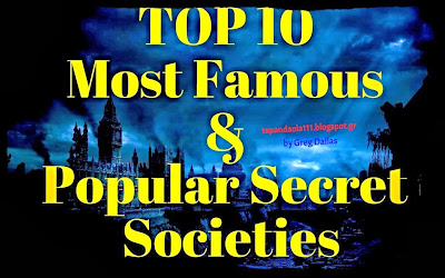 Top 10, Secret Societies, Ordo Templi Orientis, Hermetic Order of The Golden Dawn, The Knights Templar, Opus Dei, Freemasons, Illuminati, Rosicrucians, The Priory of Sion, The Bilderberg Group, Skull and Bones, tapandaola111
