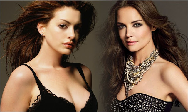 Anne Hathaway and Katie Holmes