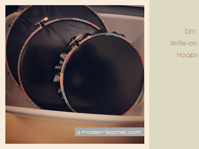 A Modern Teacher: DIY Write-on Hoops