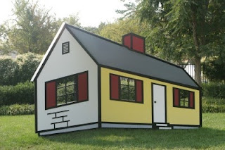 optical illusion house