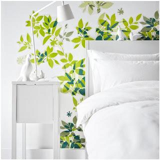 Ikea e momichan camera da letto - Testiera letto adesiva ...