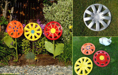 Wheel Caps for Garden Decoration