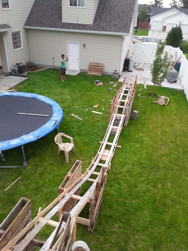 the 50 dollar back yard roller coaster never bet someone can 39 t do