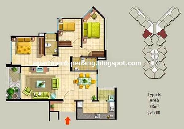 The Spring Penang Floor Plan The Spring Apartment Penang