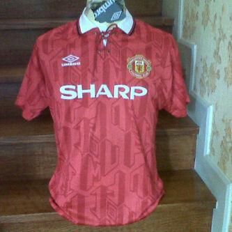 Jersey MU Retro tahun 1992/1993 Sponsor SHARP