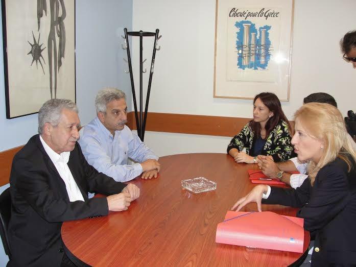 Συνάντηση της Περιφερειάρχη Αττικής, Ρένας Δούρου με τον πρόεδρο της ΔΗΜΑΡ, Φώτη Κουβέλη