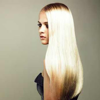 szőke egészséges hosszú haj