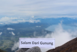 Tulisan salam anak gunung saat naik gunung