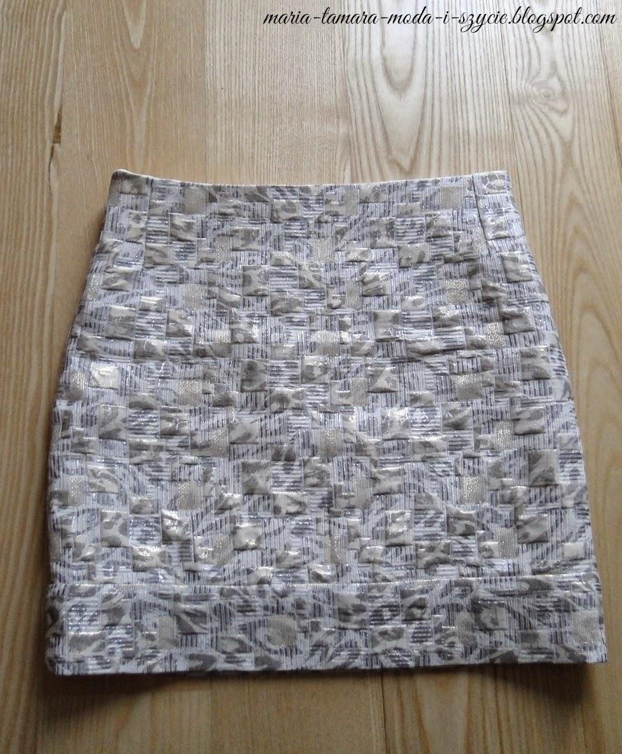srebrno złote spódnice