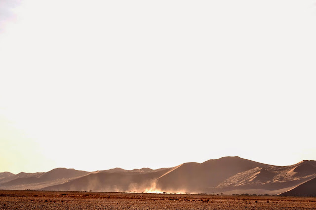 Dusty dunes in Sossusvlei