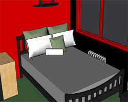 Solucion Red VIP Bedroom Escape Guia