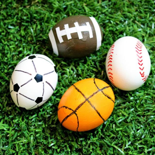 Sports Easter eggs