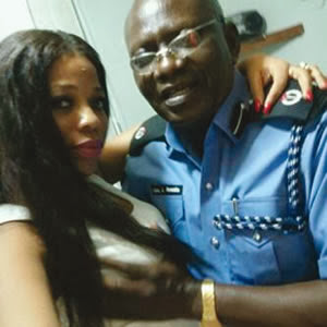 nigerian police officer lady breast