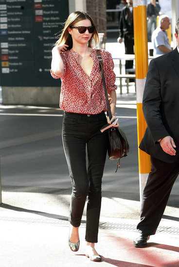 Grey Chiffon Miranda Kerr Street Style
