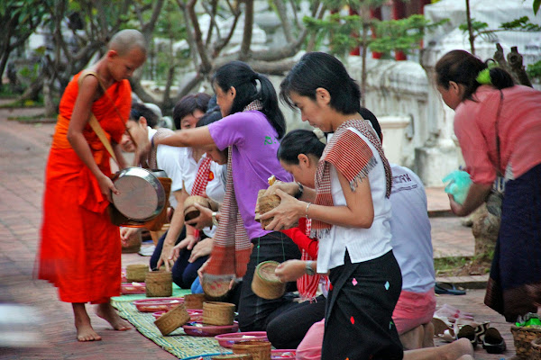 Luang Prabang giving of alms
