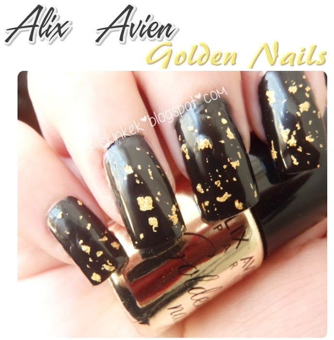 swatch alix avien golden nail polish