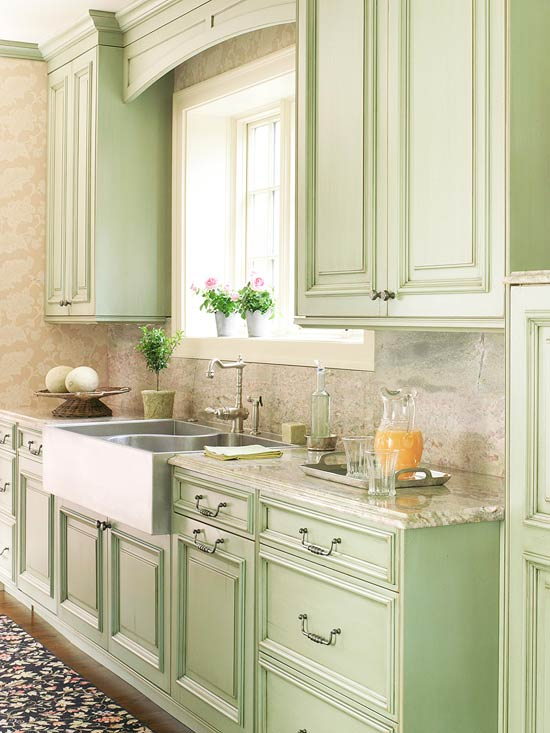 Kitchen Design Ideas 2012 ~ Pistachio green kitchens simple home decoration