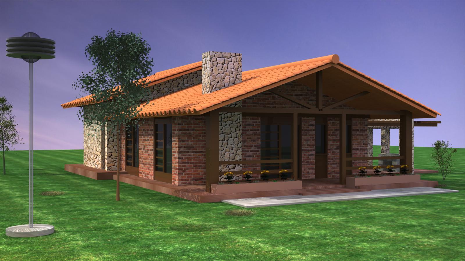 Lost studio casas de campo for Planos de casas de campo modernas