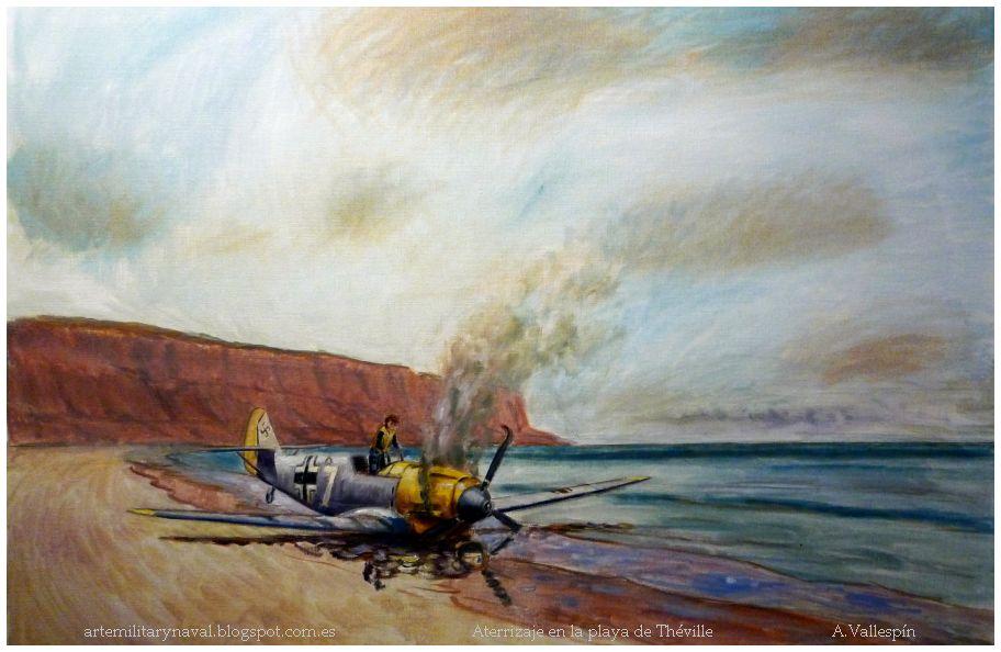Aterrizaje forzoso en la playa de Théville de Hans-Joachim Marseille