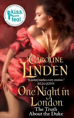 Book cover of One Night in London by Caroline Linden (historical romance novel review)