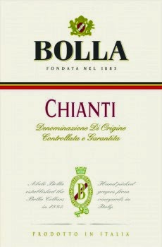 front label of Bolla Chianti