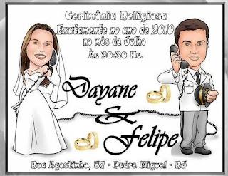 fotos de Convites Personalizados para Casamento