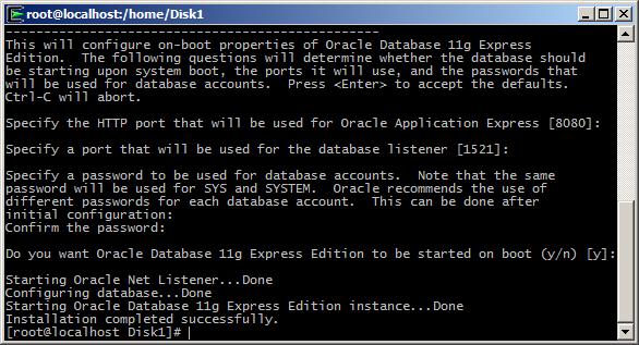 start oracle database