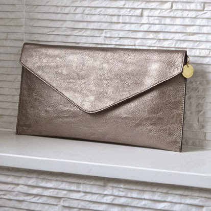 Ma Bicyclette: Buy Handmade | Christmas Gift Guide For Her - Personalised Metallic Clutch Bag