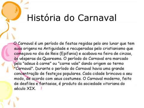 Historia do Carnaval