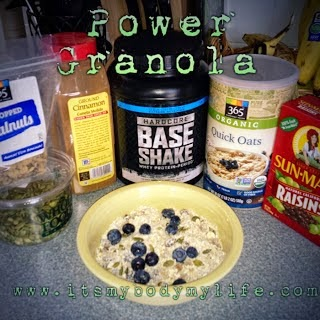 clean eating snack ideas, granola, power granola