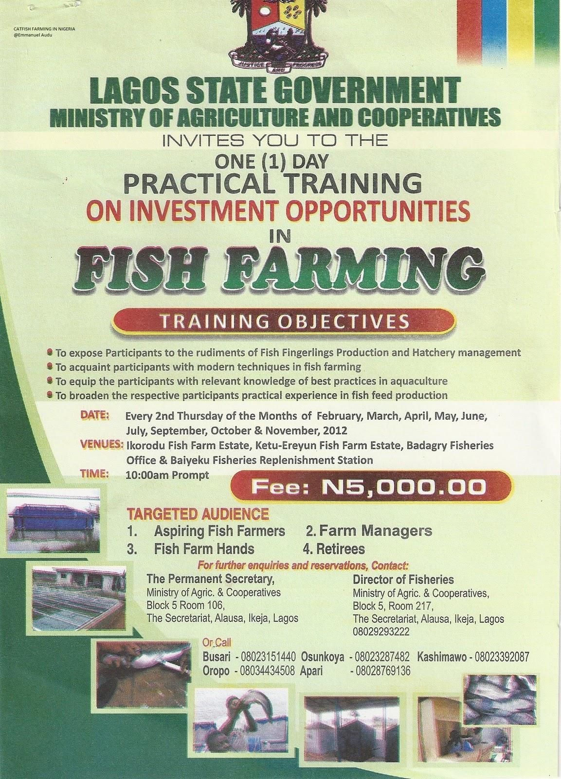 fish farming in nigeria pdf