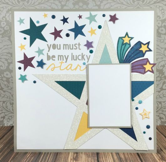 Cricut Artistry Lucky Star scrapbook layout