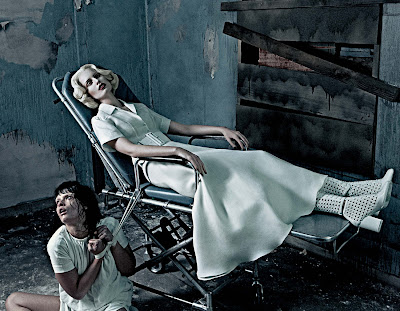 Karolina Kurkova & Crystal Renn in 'Institute White' by Steven Klein for Interview Magazine-7