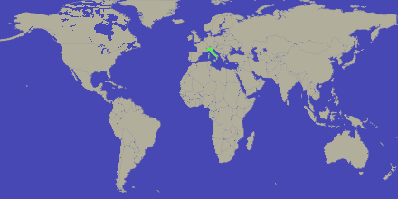 italy highlighted on the world map