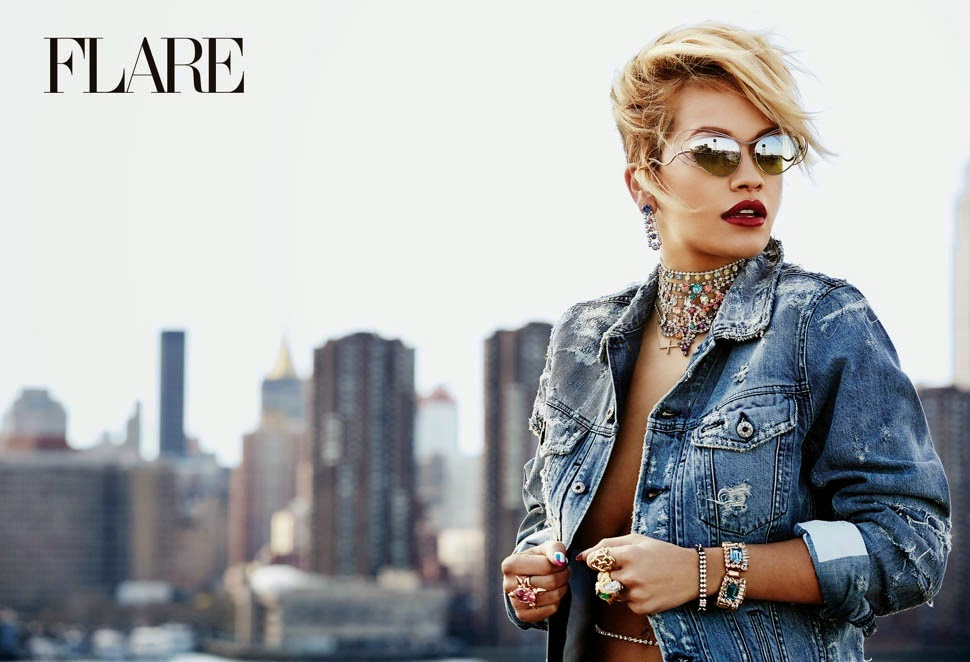 Rita Ora for Flare Magazine, August 2014