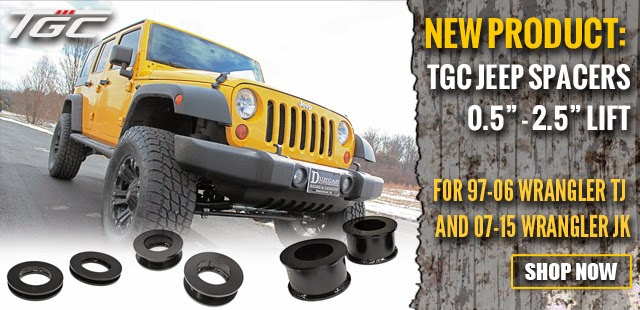 TGC Jeep Lift Spacers