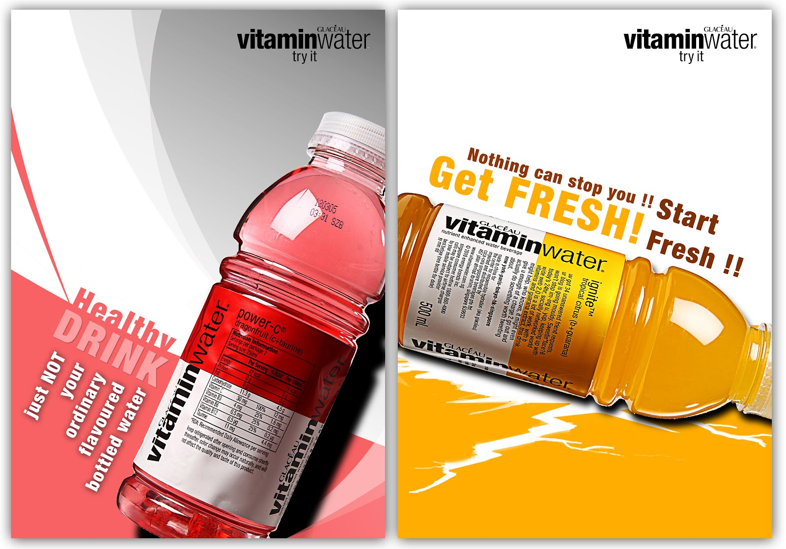 Poster design help - Vitamin Water Glaceau Poster Design