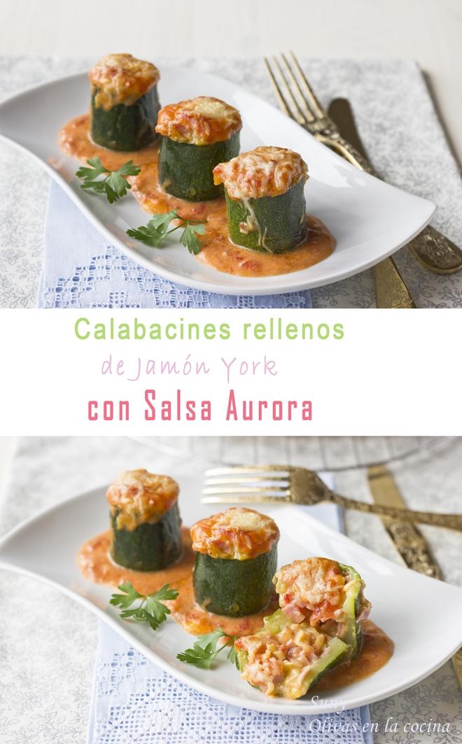 Calabacines rellenos de Jamón York con Salsa Aurora para Degustabox