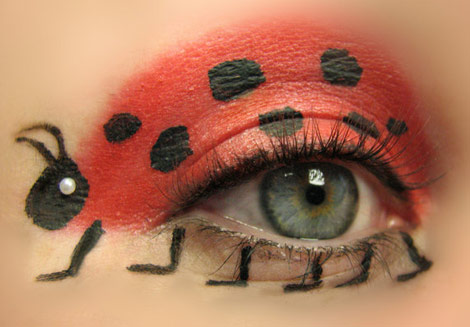 lady bug eye makeup