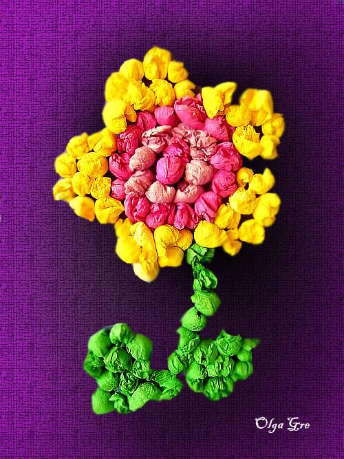 Цветы из бумаги объёмная аппликация