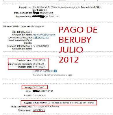 prueba de pago de beruby