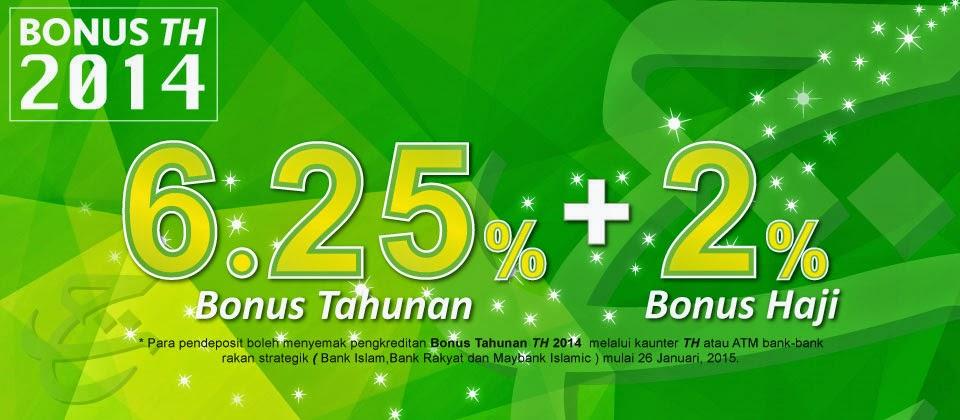 Pengiraan Bonus Dividen Tabung Haji 2015 6 25 2