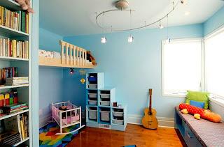 Dormitorio para niña celeste