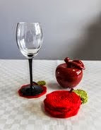 Apple Coasters - $1.30 USD