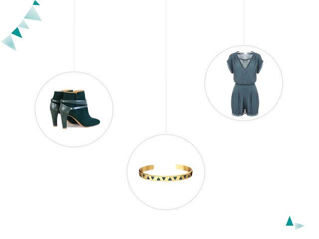 vert blouse chaussures combishort nafnaf blog mode