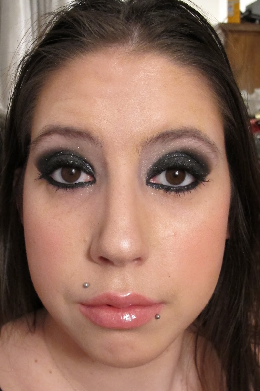 Steph Stud Makeup Sexy Dark Black Smokey Eyes Using Mac